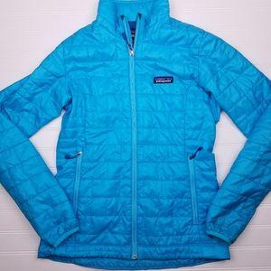 Patagonia nano puff jacket women's xs mako blue